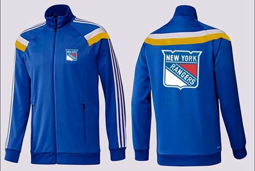 NHL New York Rangers Zip Jackets Blue-4