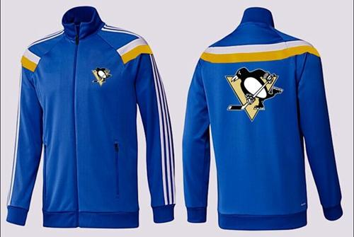 NHL Pittsburgh Penguins Zip Jackets Blue-2