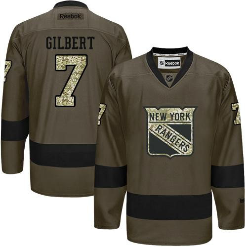 Rangers #7 Rod Gilbert Green Salute to Service Stitched NHL Jersey