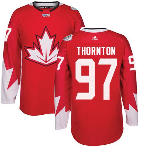 Team CA. #97 Joe Thornton Red 2016 World Cup Stitched NHL Jersey