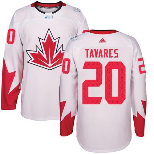 Team CA. #20 John Tavares White 2016 World Cup Stitched NHL Jersey