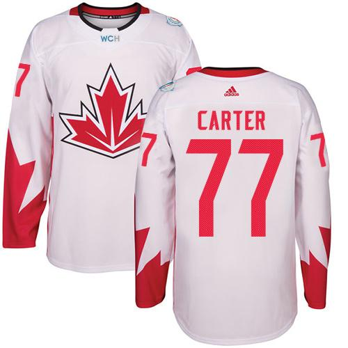 Team CA. #77 Jeff Carter White 2016 World Cup Stitched NHL Jersey