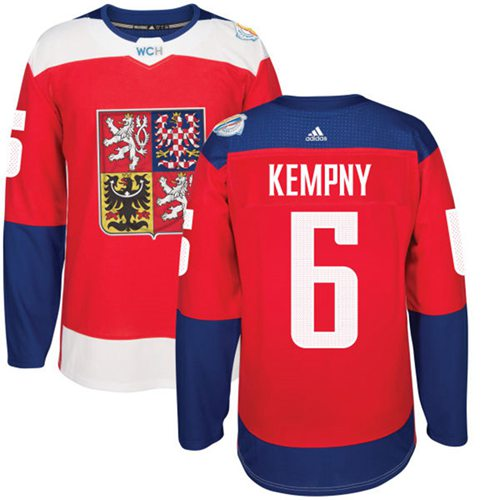 Team Czech Republic #6 Michal Kempny Red 2016 World Cup Stitched NHL Jersey
