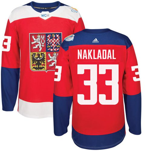 Team Czech Republic #33 Jakub Nakladal Red 2016 World Cup Stitched NHL Jersey