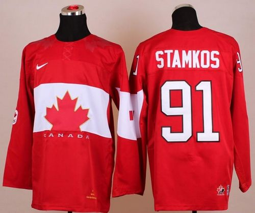Olympic 2014 CA. #91 Steven Stamkos Red Stitched NHL Jersey