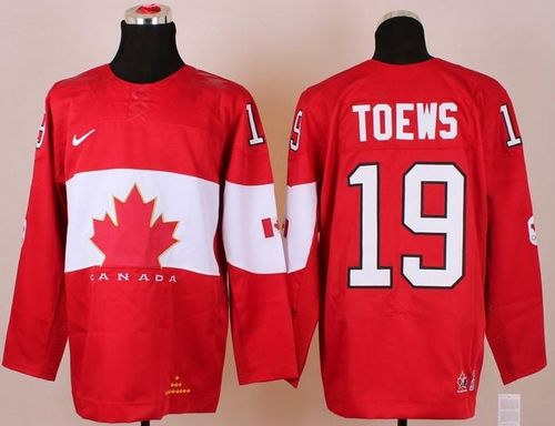 Olympic 2014 CA. #19 Jonathan Toews Red Stitched NHL Jersey