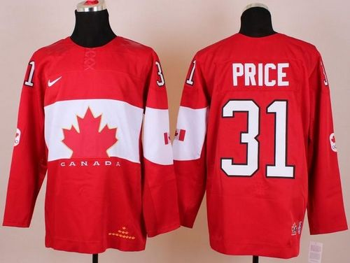 Olympic 2014 CA. #31 Carey Price Red Stitched NHL Jersey