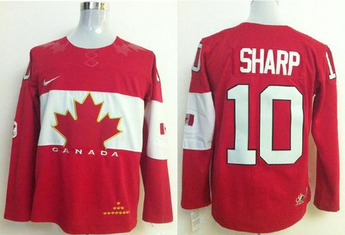 Olympic 2014 CA. #10 Patrick Sharp Red Stitched NHL Jersey