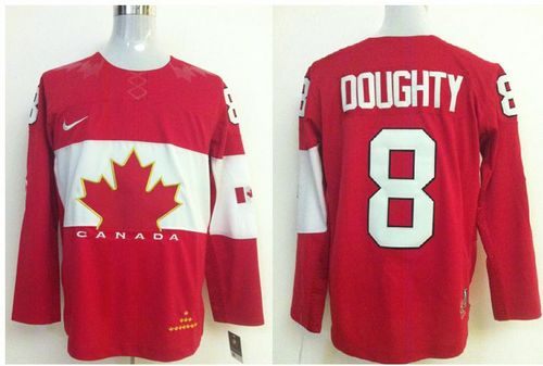 Olympic 2014 CA. #8 Drew Doughty Red Stitched NHL Jersey