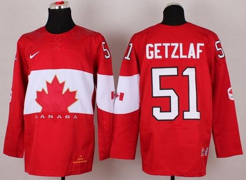 Olympic 2014 CA. #51 Ryan Getzlaf Red Stitched NHL Jersey