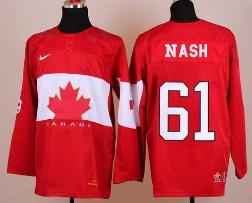 Olympic 2014 CA. #61 Rick Nash Red Stitched NHL Jersey