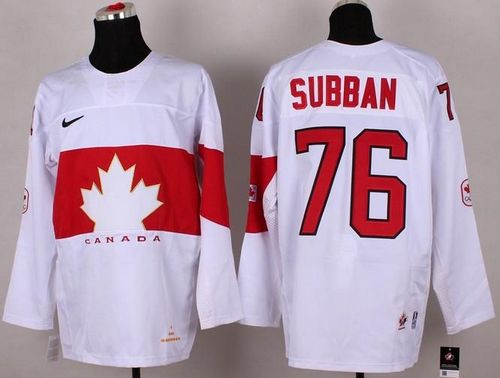 Olympic 2014 CA. #76 P.K Subban White Stitched NHL Jersey