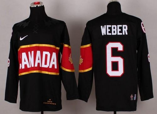 Olympic 2014 CA. #6 Shea Weber Black Stitched NHL Jersey