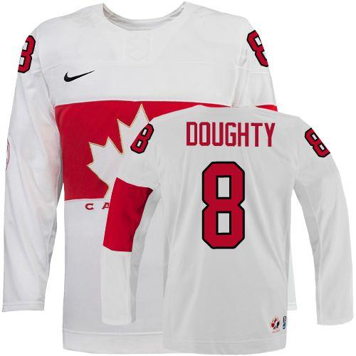 Olympic 2014 CA. #8 Drew Doughty White Stitched NHL Jersey
