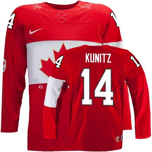 Olympic 2014 CA. #14 Chris Kunitz Red Stitched NHL Jersey