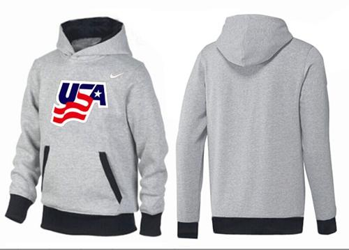 Olympic Team USA Pullover Hoodie Grey/Black