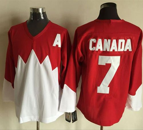 Olympic CA. #7 Canada Red/White 1972 Commemorative CCM Stitched NHL Jersey