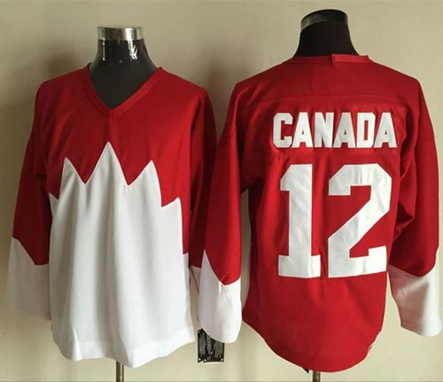 Olympic CA. #12 Canada Red/White 1972 Commemorative CCM Stitched NHL Jersey