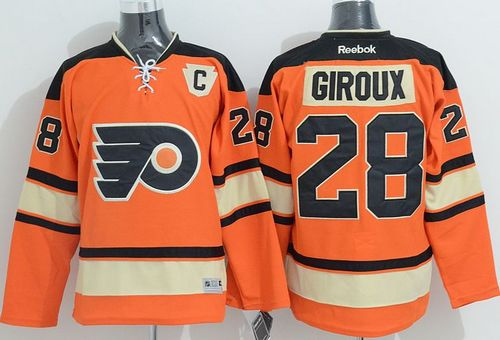Flyers #28 Claude Giroux Orange Alternate Stitched NHL Jersey