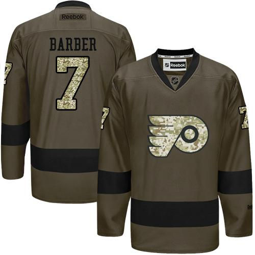 Flyers #7 Bill Barber Green Salute to Service Stitched NHL Jersey