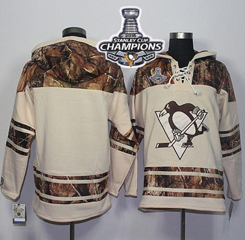 Penguins Blank Cream/Camo 2016 Stanley Cup Champions Stitched NHL Jersey