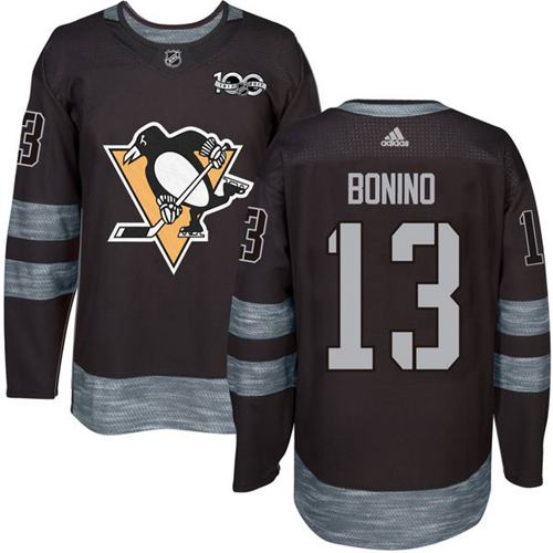 Penguins #13 Nick Bonino Black 1917-2017 100th Anniversary Stitched NHL Jersey