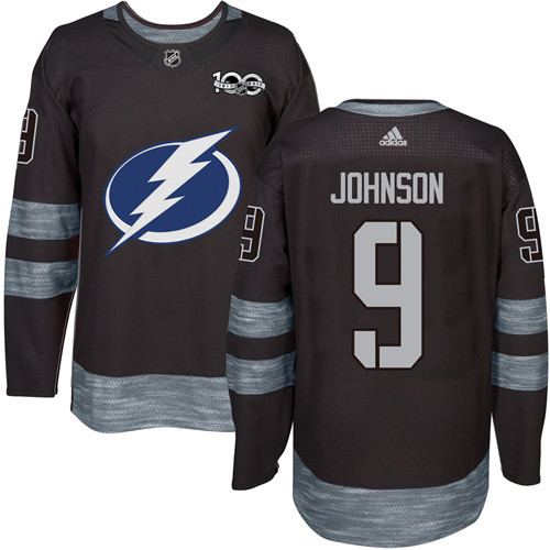 Lightning #9 Tyler Johnson Black 1917-2017 100th Anniversary Stitched NHL Jersey