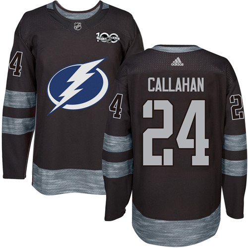 Lightning #24 Ryan Callahan Black 1917-2017 100th Anniversary Stitched NHL Jersey
