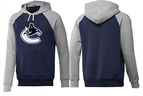 Vancouver Canucks Pullover Hoodie Dark Blue & Grey