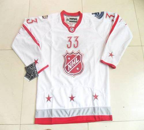 Canucks #33 Henrik Sedin 2012 All Star White Stitched NHL Jersey
