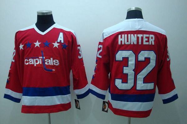 Capitals #32 Hunter Stitched CCM Throwback Red NHL Jersey