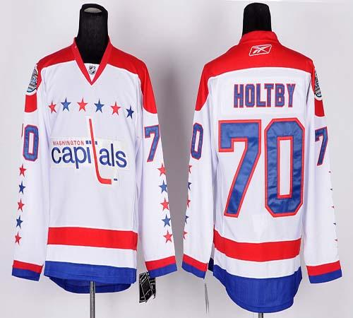 Capitals #70 Braden Holtby White 2011 Winter Classic Vintage Stitched NHL Jersey