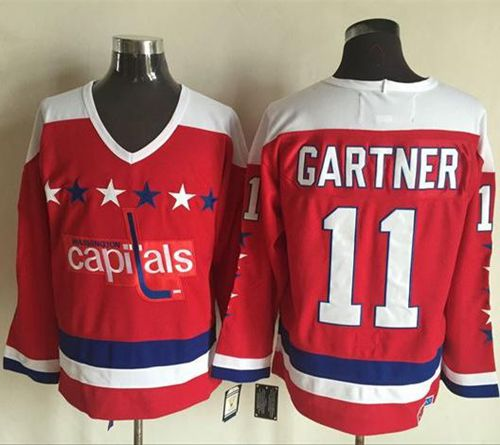 Capitals #11 Mike Gartner Red Alternate CCM Throwback Stitched NHL Jersey