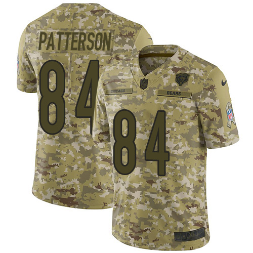 Nike Bears #84 Cordarrelle Patterson Camo Men's Stitched NFL Limited 2018 Salute To Service Jersey