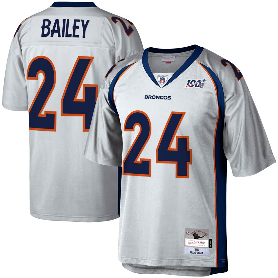 Denver Broncos #24 Champ Bailey Mitchell & Ness NFL 100 Retired Player Platinum Jersey
