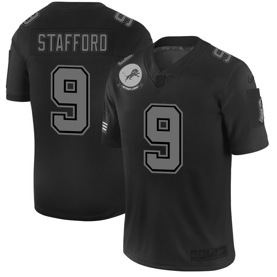 Detroit Lions #9 Matthew Stafford Men's Nike Black 2019 Salute to Service Limited Stitched NFL Jersey