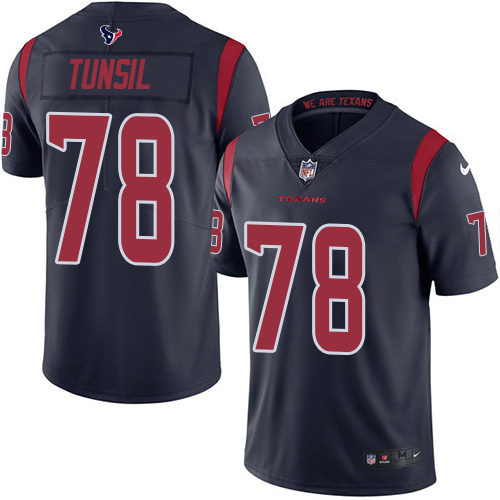 Nike Texans #78 Laremy Tunsil Navy Blue Men's Stitched NFL Limited Rush Jersey