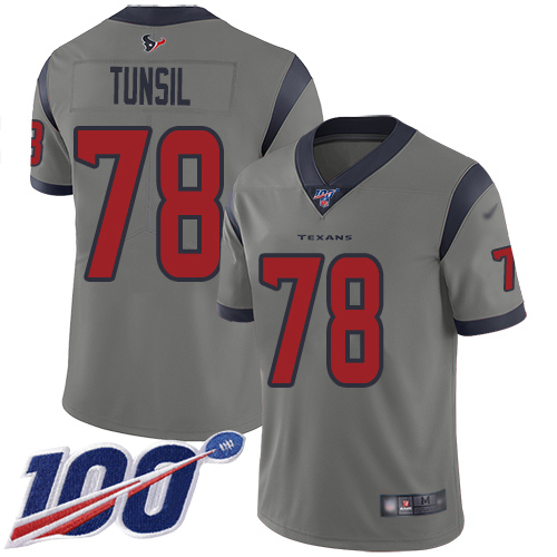 Nike Texans #78 Laremy Tunsil Gray Men's Stitched NFL Limited In