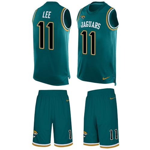 Nike Jaguars #11 Marqise Lee Teal Green Alternate Men's Stitched NFL Limited Tank Top Suit Jersey