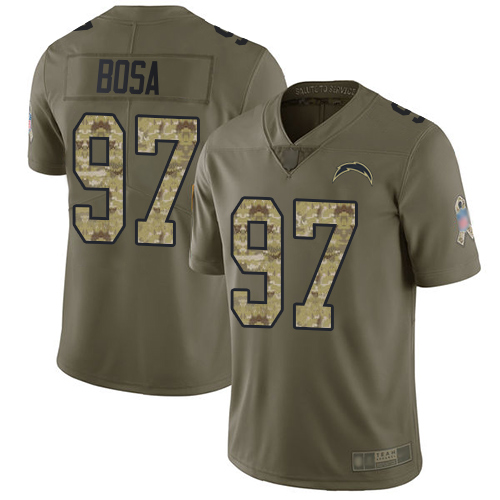 Nike Chargers #97 Joey Bosa Olive/Camo Men's Stitched NFL Limited 2017 Salute To Service Jersey