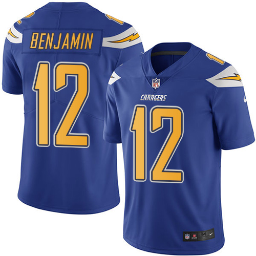 Nike Chargers #12 Travis Benjamin Electric Blue Men's Stitched NFL Limited Rush Jersey