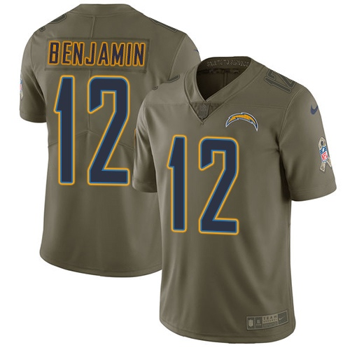 Nike Chargers #12 Travis Benjamin Olive Men's Stitched NFL Limited 2017 Salute To Service Jersey