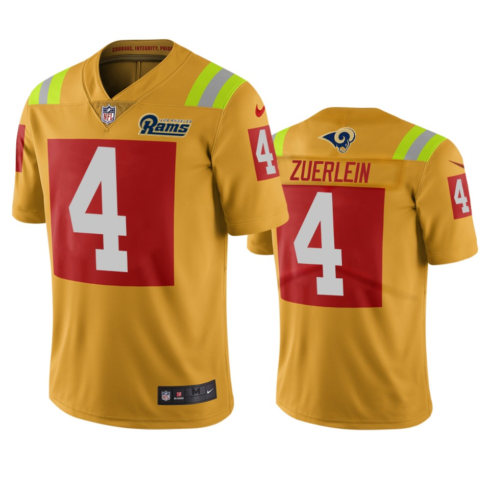 Los Angeles Rams #4 Greg Zuerlein Gold Vapor Limited City Edition NFL Jersey