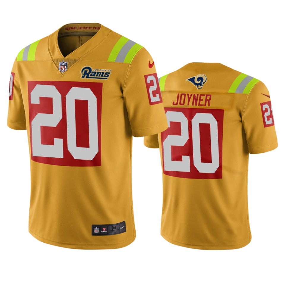 Los Angeles Rams #20 Lamarcus Joyner Gold Vapor Limited City Edition NFL Jersey