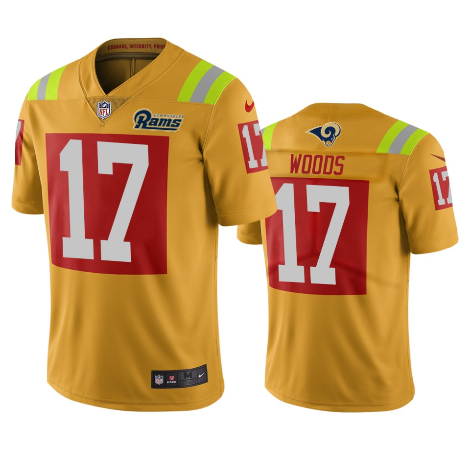 Los Angeles Rams #17 Robert Woods Gold Vapor Limited City Edition NFL Jersey