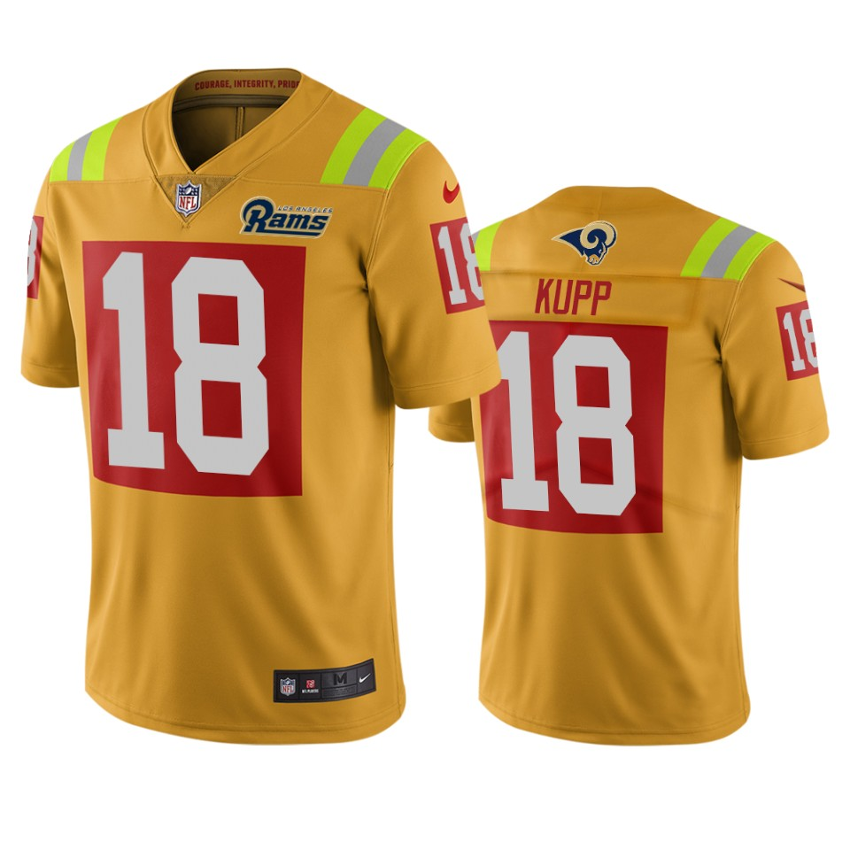 Los Angeles Rams #18 Cooper Kupp Gold Vapor Limited City Edition NFL Jersey