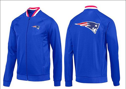 NFL New England Patriots Team Logo Jacket Blue_1