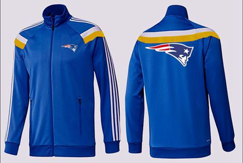 NFL New England Patriots Team Logo Jacket Blue_4