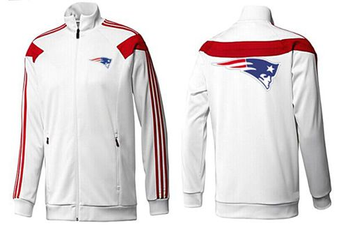 NFL New England Patriots Team Logo Jacket White_1