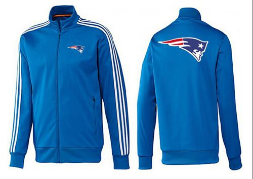 NFL New England Patriots Team Logo Jacket Blue_2